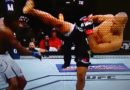 Ronaldo Jacaré nocauteia Derek Brunson com um chute alto e garante a 1ª vitória brasileira em 2018 no UFC
