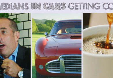 Comedians in cars getting coffe